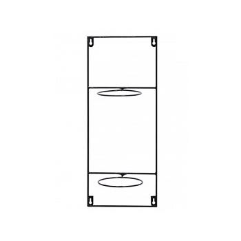 Держатель для Кашпо Artstone amy potrack vert black, чёрного цвета (2x hole for 13 cm) Длина — 20 см