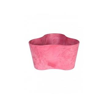 Кашпо Artstone clair triangle розовый Длина — 26 см
