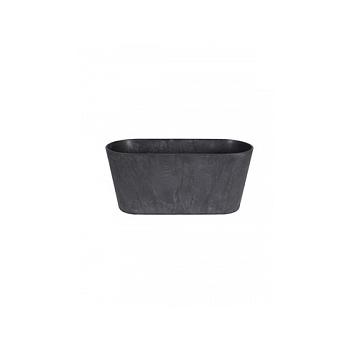 Кашпо Artstone claire balcony black, чёрного цвета Длина — 38 см