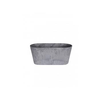 Кашпо Artstone claire balcony grey, серого цвета Длина — 38 см