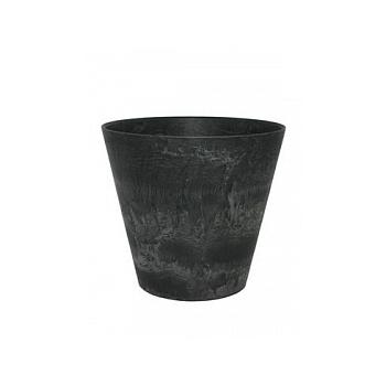 Кашпо Artstone claire pot black, чёрного цвета Диаметр — 22 см