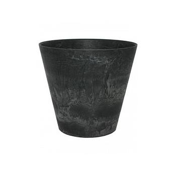 Кашпо Artstone claire pot black, чёрного цвета Диаметр — 47 см