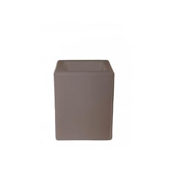 Светящееся Кашпо Bloom! Holland square dark grey, серого цвета (taupe, тёмно-серый) Длина — 40 см