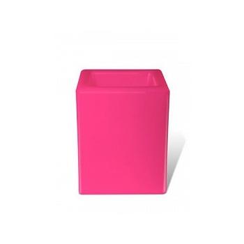 Светящееся Кашпо Bloom! Holland square розовый Длина — 40 см