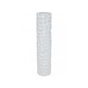 Кашпо Fleur Ami Mosiac column glossy white, белого цвета  Диаметр — 30 см