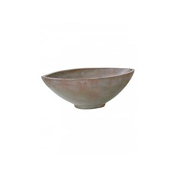 Кашпо Fleur Ami Loft bowl verdigris bronze, бронзового цвета Длина — 24 см Диаметр — 51 см