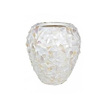 Кашпо Fleur Ami Shell mother of pearl white, белого цвета  Диаметр — 74 см