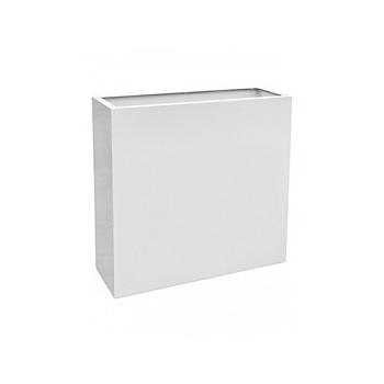 Кашпо Livingreen barrier glossy ral 9016 hydro Длина — 90 см