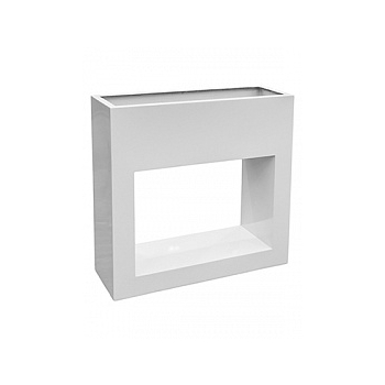 Кашпо Livingreen barrier holey design polished brilliant white, белого цвета Длина — 90 см