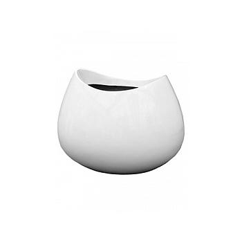 Кашпо Livingreen blob 2 polished brilliant white, белого цвета Длина — 98 см
