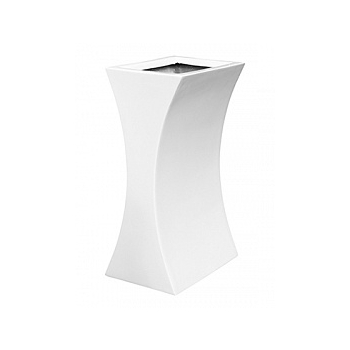 Кашпо Livingreen curvy sophia 1 polished brilliant white, белого цвета Длина — 26 см