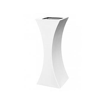 Кашпо Livingreen curvy sophia 2 polished brilliant white, белого цвета Длина — 35 см