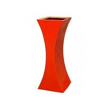 Кашпо Livingreen curvy sophia 2 polished flame red, красного цвета Длина — 35 см