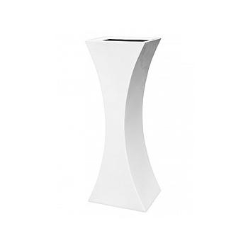 Кашпо Livingreen curvy sophia 3 polished brilliant white, белого цвета Длина — 46 см