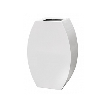 Кашпо Livingreen curvy ursula 2 polished brilliant white, белого цвета Длина — 59 см