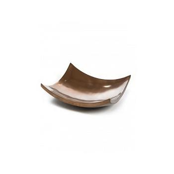 Блюдо Plants First Choice Element bronze, бронзового цвета bowl square Длина — 43 см