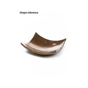 Блюдо Plants First Choice Element bronze, бронзового цвета bowl square Длина — 61 см