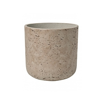 Кашпо Pottery Pots Eco-line charlie L размер grey, серого цвета washed  Диаметр — 25 см
