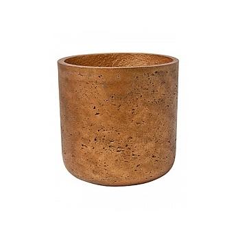 Кашпо Pottery Pots Eco-line charlie L размер metalic copper  Диаметр — 25 см