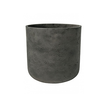 Кашпо Pottery Pots Eco-line charlie XL размер black, чёрного цвета washed  Диаметр — 32 см