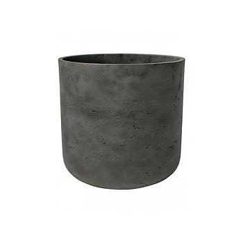 Кашпо Pottery Pots Eco-line charlie XS размер black, чёрного цвета washed  Диаметр — 12 см