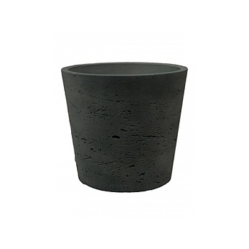 Кашпо Pottery Pots Eco-line mini bucket M размер black, чёрного цвета washed  Диаметр — 16 см