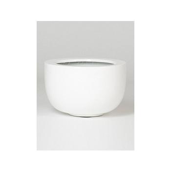 Кашпо Pottery Pots Fiberstone glossy white, белого цвета sunny  Диаметр — 33 см