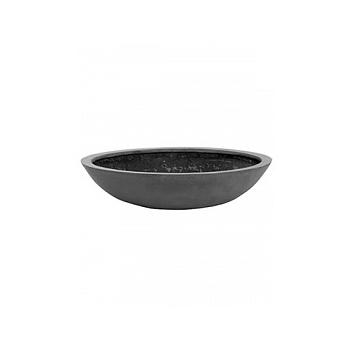 Кашпо Pottery Pots Fiberstone jumbo bowl grey, серого цвета S размер  Диаметр — 70 см