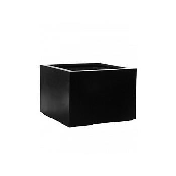 Кашпо Pottery Pots Fiberstone jumbo middle high black, чёрного цвета M размер Длина — 70 см