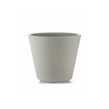 Кашпо TeraPlast Ribeira 60 silk grey, серого цвета  Диаметр — 57 см