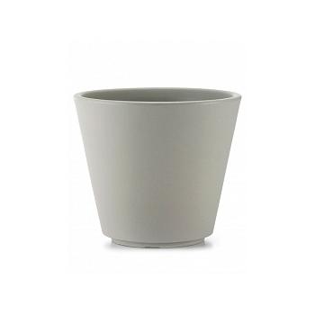 Кашпо TeraPlast Ribeira 80 silk grey, серого цвета  Диаметр — 77 см