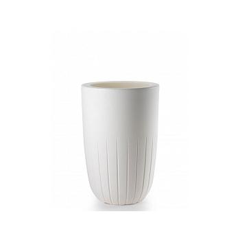 Кашпо TeraPlast Valentino 70 white, белого цвета  Диаметр — 42 см