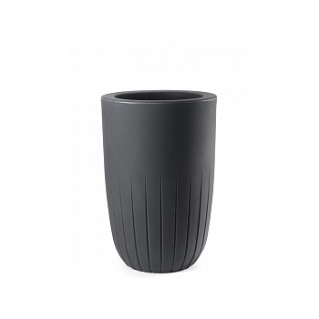 Кашпо TeraPlast Valentino 90 anthracite, цвет антрацит  Диаметр — 52 см