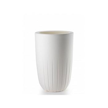 Кашпо TeraPlast Valentino 90 white, белого цвета  Диаметр — 52 см