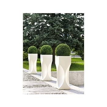 Кашпо TeraPlast Venezia 100 white, белого цвета Длина — 39 см