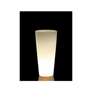 Светящееся Кашпо TeraPlast Schio Cono light outdoor 90 neutral  Диаметр — 40 см