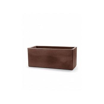 Кашпо TeraPlast Schio Cassa 100 bronze, бронзового цвета Длина — 100 см