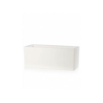 Кашпо TeraPlast Schio Cassa 100 white, белого цвета Длина — 100 см