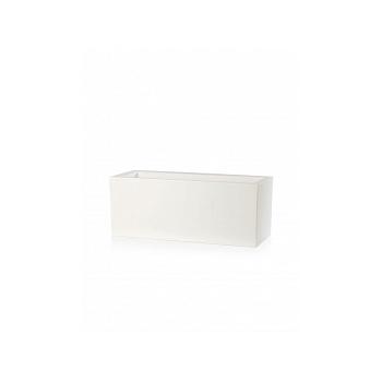 Кашпо TeraPlast Schio Cassa 80 white, белого цвета Длина — 80 см