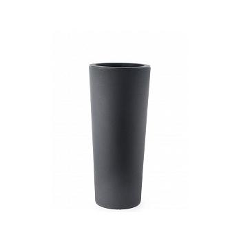 Кашпо TeraPlast Schio Cono 110 anthracite, цвет антрацит  Диаметр — 45 см