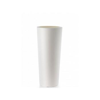 Кашпо TeraPlast Schio Cono 110 white, белого цвета  Диаметр — 45 см