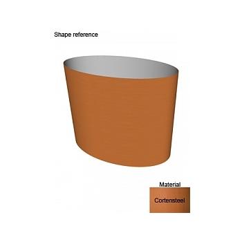 Кашпо Superline Cortenstyle® big oval on ring Длина — 95 см  Высота — 75 см