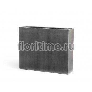 Кашпо Effectory Beton высокий девайдер : темно-серый