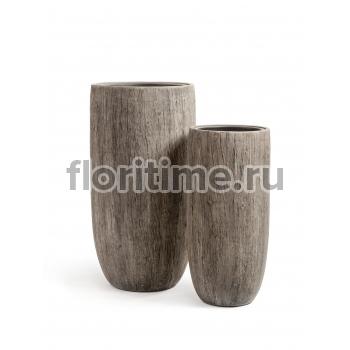 Кашпо Effectory Wood высокий округлый конус : беленый дуб