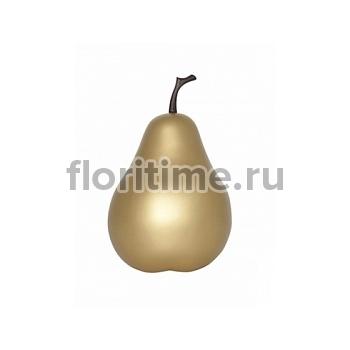 Груша декоративная Pear gold, под цвет золота XS размер  Диаметр — 15 см Высота — 24 см