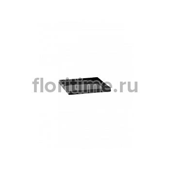 Поддон Pottery Pots Fiberstone saucer block 30, glossy black, чёрного цвета Длина — 33 см  Высота — 4 см