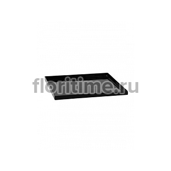 Поддон Pottery Pots Fiberstone saucer block 50, glossy black, чёрного цвета Длина — 53 см  Высота — 4 см