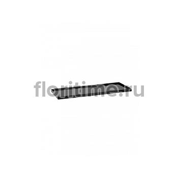Поддон Pottery Pots Fiberstone saucer jort 40, glossy black, чёрного цвета Длина — 83 см  Высота — 4 см