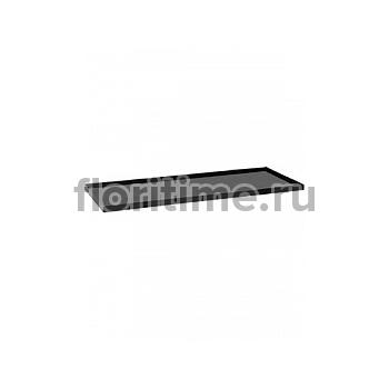 Поддон Pottery Pots Fiberstone saucer jort 50, glossy black, чёрного цвета Длина — 103 см  Высота — 4 см