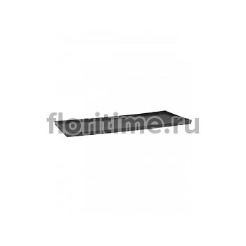 Поддон Pottery Pots Fiberstone saucer jort 50, grey, серого цвета Длина — 103 см  Высота — 4 см